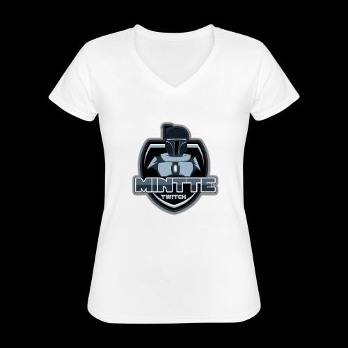 Mintte - Klassisches Frauen-T-Shirt mit V-Ausschnitt