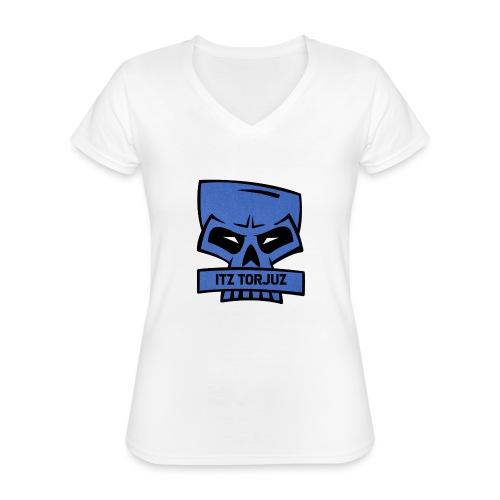 Itz Torjuz - Klassisk T-skjorte med V-hals for kvinner