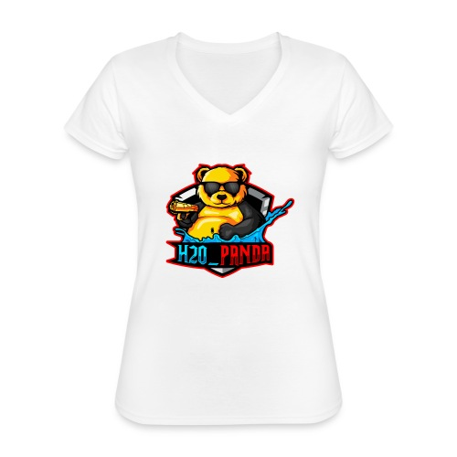 Pandas Loga - Klassisk T-shirt med V-ringning dam