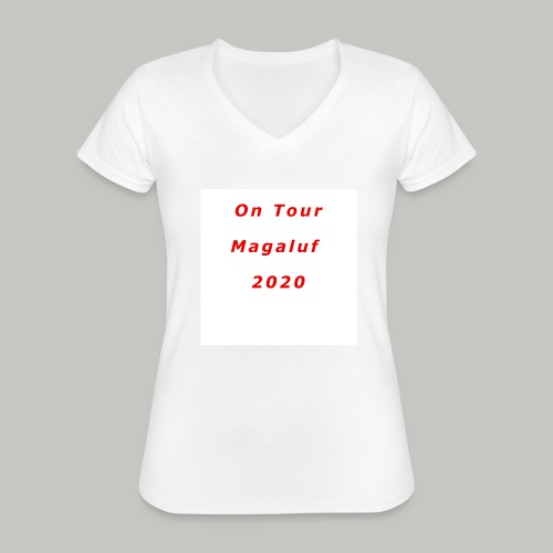 On Tour In Magaluf, 2020 - Printed T Shirt - Classic Women's V-Neck T-Shirt