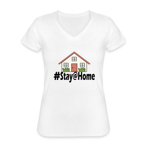 StayHome - Klassiek vrouwen T-shirt met V-hals