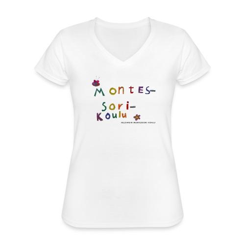 Oppimisen iloa HMK - Klassinen naisten t-paita v-pääntiellä