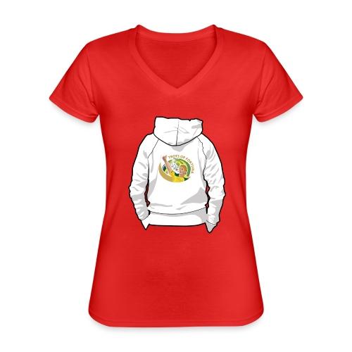 hoodyback - Klassiek vrouwen T-shirt met V-hals