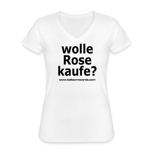 Wolle Rose Kaufe - Klassisches Frauen-T-Shirt mit V-Ausschnitt