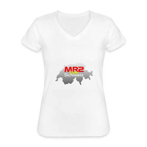 Logo MR2 Club Logo - Klassisches Frauen-T-Shirt mit V-Ausschnitt