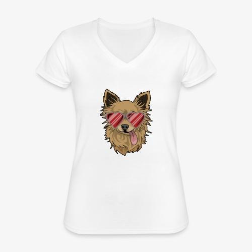 Cool Engla - Klassisk T-shirt med V-ringning dam