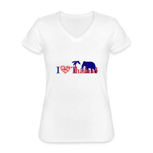 I love Thailand - Classic Women's V-Neck T-Shirt