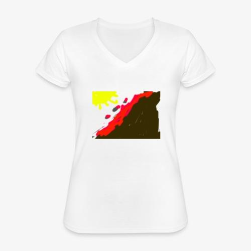 flowers - Klassisk dame T-shirt med V-udskæring