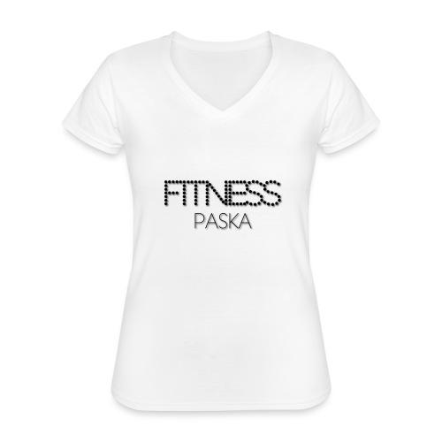 FITNESS PASKA - Klassinen naisten t-paita v-pääntiellä