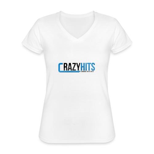 CrazyHIT - T-shirt classique col V Femme