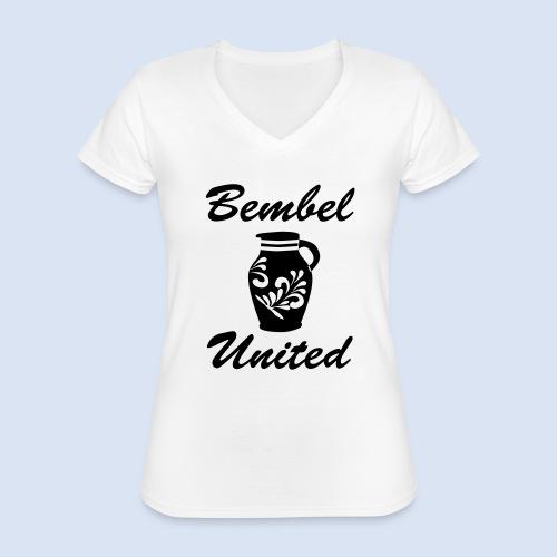 Bembel United Hessen - Klassisches Frauen-T-Shirt mit V-Ausschnitt