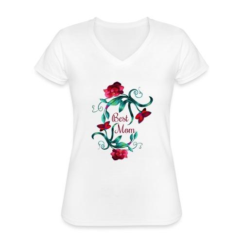 Best Mom - Klassisches Frauen-T-Shirt mit V-Ausschnitt