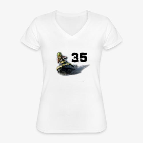 jetski35 - Klassinen naisten t-paita v-pääntiellä