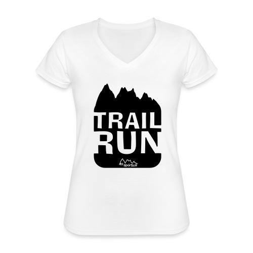 Trail Run - Klassisches Frauen-T-Shirt mit V-Ausschnitt