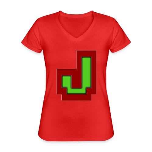 Stilrent_J - Klassisk dame T-shirt med V-udskæring