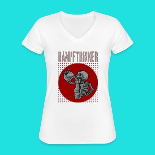 Kampftrinker - Klassisches Frauen-T-Shirt mit V-Ausschnitt