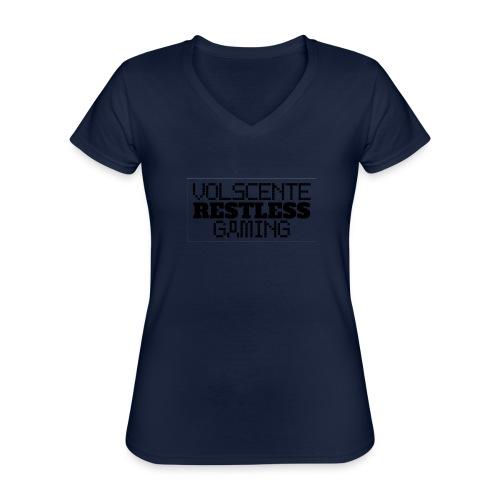 Volscente Restless Logo B - Maglietta da donna classica con scollo a V