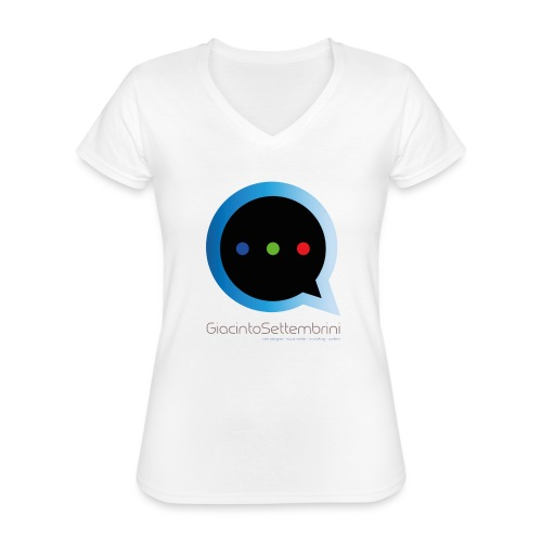 GS Model - Maglietta da donna classica con scollo a V