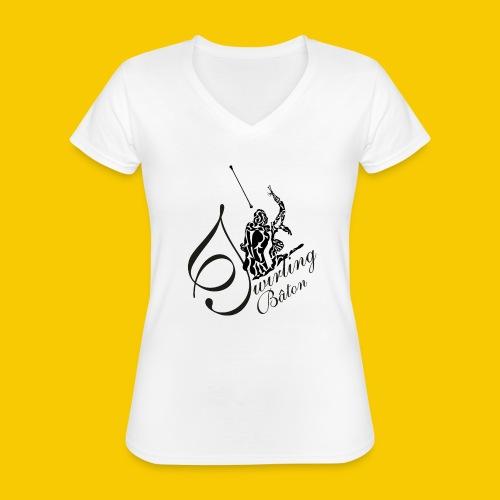 twirling b 2 - T-shirt classique col V Femme