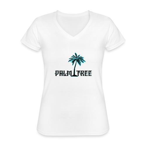 PALMTREE PALMERA STREETWEAR - Camiseta clásica con cuello de pico para mujer