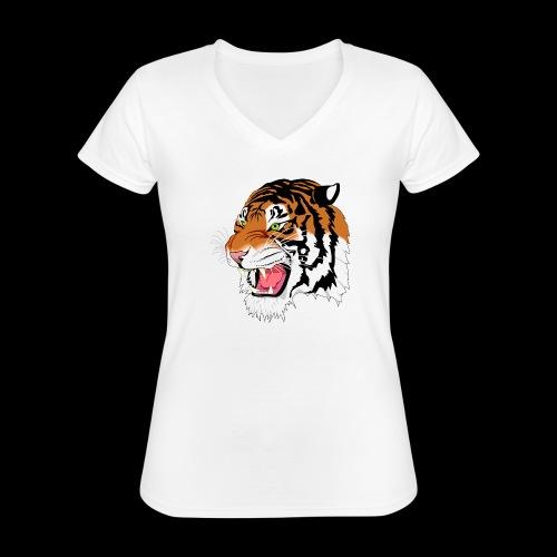 Sumatra Tiger - Klassisches Frauen-T-Shirt mit V-Ausschnitt