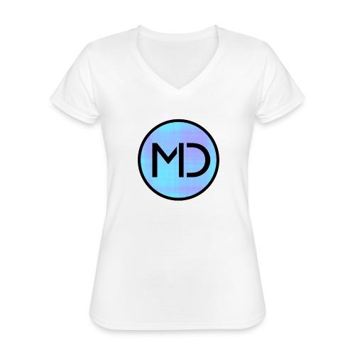 MD Blue Fibre Trans - Classic Women's V-Neck T-Shirt