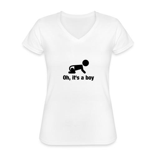 Baby Boy - Klassisches Frauen-T-Shirt mit V-Ausschnitt