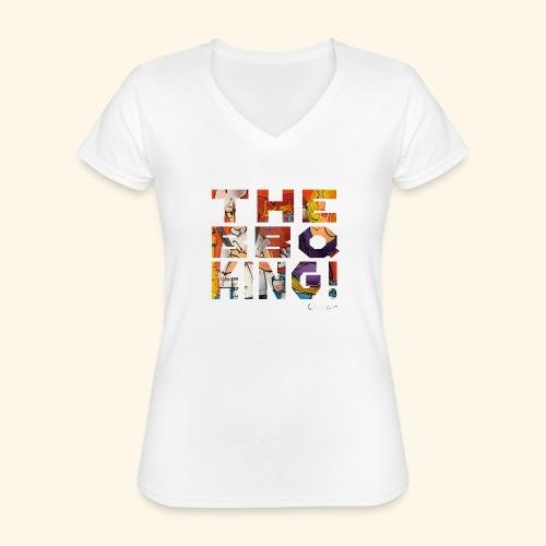 THE BBQ KING T SHIRTS TEKST - Klassiek vrouwen T-shirt met V-hals