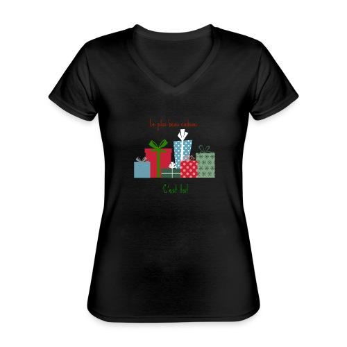 Le plus beau cadeau - T-shirt classique col V Femme