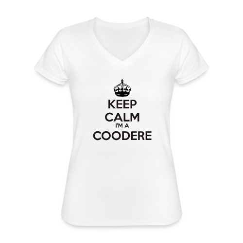 Coodere keep calm - Classic Women's V-Neck T-Shirt