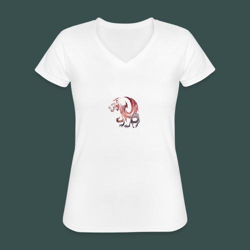 tigz - Klassisches Frauen-T-Shirt mit V-Ausschnitt