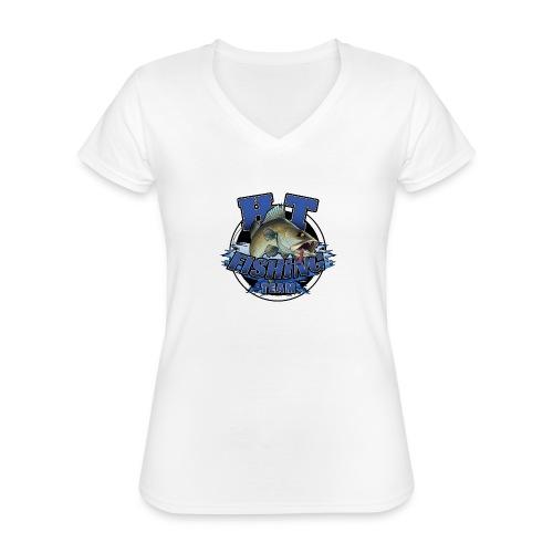 HT Fishing Team - Klassinen naisten t-paita v-pääntiellä