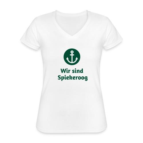 Wir sind Spiekeroog Freunde Sortiment - Klassisches Frauen-T-Shirt mit V-Ausschnitt