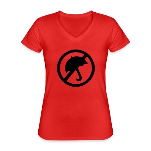 rainmakerlogo - Klassinen naisten t-paita v-pääntiellä