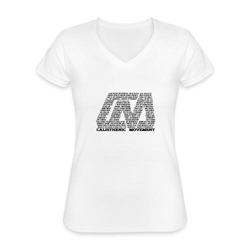 CM Logo aus Text schwarz - Klassisches Frauen-T-Shirt mit V-Ausschnitt
