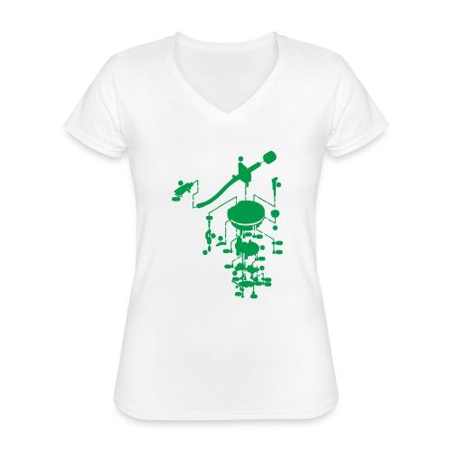 tonearm05 - Klassiek vrouwen T-shirt met V-hals