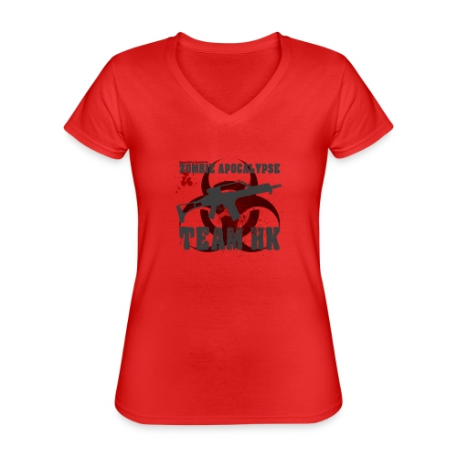 Zombie Apocalypse Team H&K - Klassisches Frauen-T-Shirt mit V-Ausschnitt