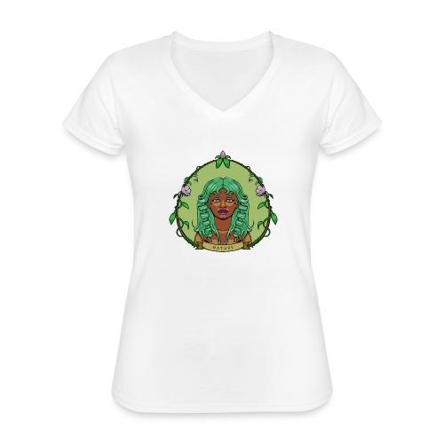Mother Nature - Camiseta clásica con cuello de pico para mujer