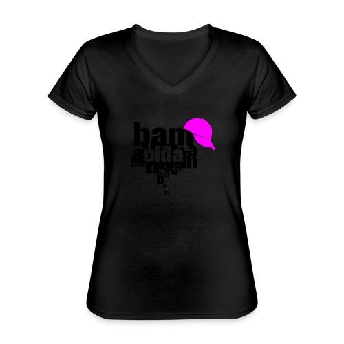 bam oida bam - Klassisches Frauen-T-Shirt mit V-Ausschnitt