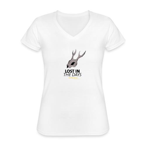 crane sky visu t shirt2 png - T-shirt classique col V Femme