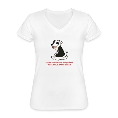 Aforisma cinofilo - Maglietta da donna classica con scollo a V