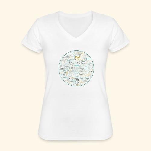 Ich bin - Klassisches Frauen-T-Shirt mit V-Ausschnitt