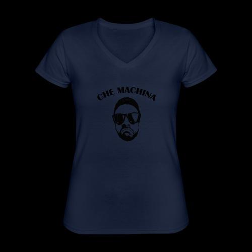 CHE MACHINA - Maglietta da donna classica con scollo a V