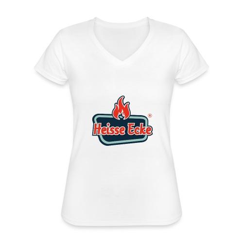 17000900 - Klassisches Frauen-T-Shirt mit V-Ausschnitt