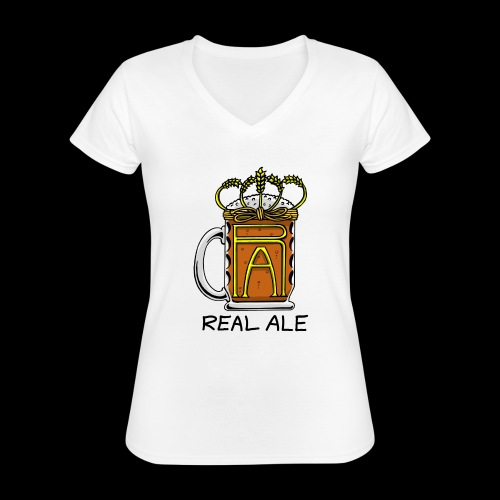 Real Ale - Classic Women's V-Neck T-Shirt