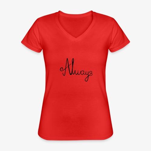 Always - Klassisk dame T-shirt med V-udskæring