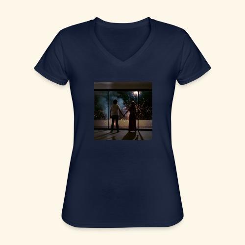 Mum look at me, I'm really okay. - T-shirt classique col V Femme