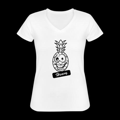 Design Ananas Heavy - T-shirt classique col V Femme