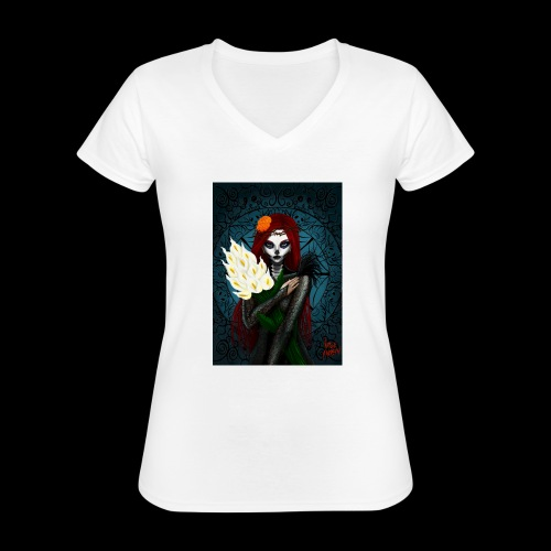 Death and lillies - Classic Women's V-Neck T-Shirt