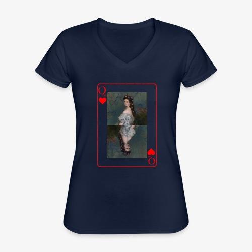 Kaiserin Sissi spielkarte Österreich - Klassisches Frauen-T-Shirt mit V-Ausschnitt